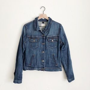 J. Crew Factory Stretch Denim Classic Jean Jacket